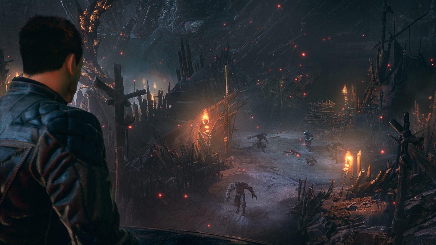 Devil's Hunt démons courant en contrebas