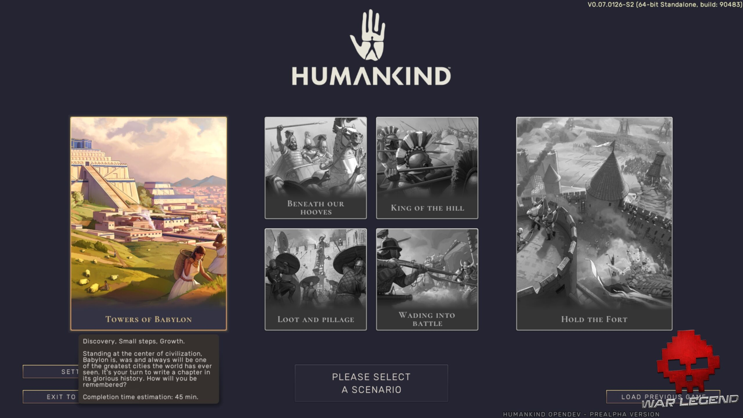 scénarior Humankind OpenDev