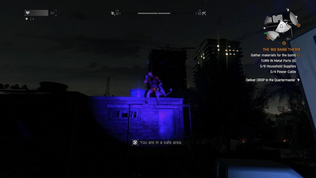 La lampe à UV est votre meilleure arme la nuit. Empêchez les de vous approcher!