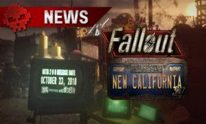 La date de sortie et du logo du mod sur fond de ville post-apocalyptique