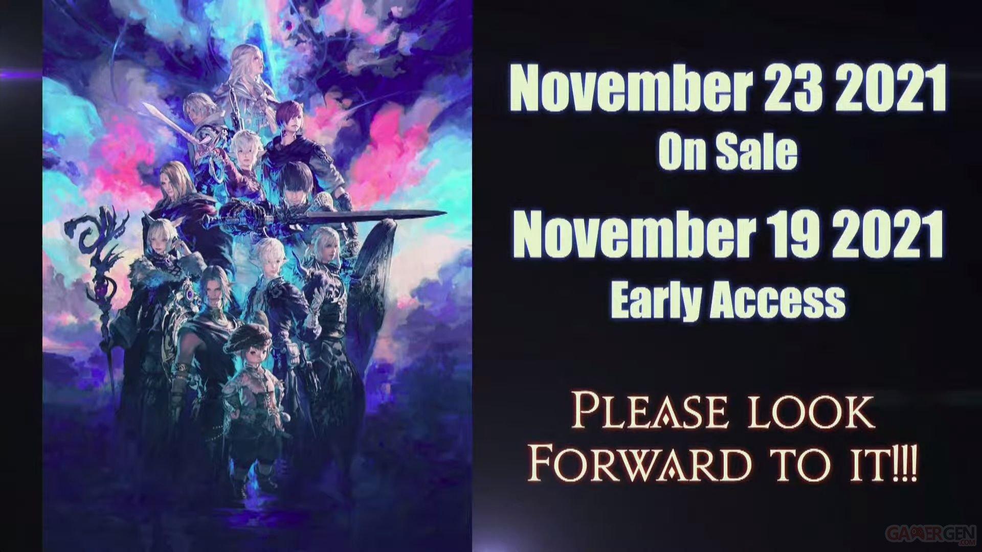 Final fantasy xiv date de sortie, early access