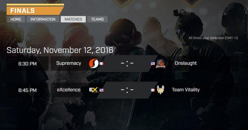tableau des finales de Pro League PC