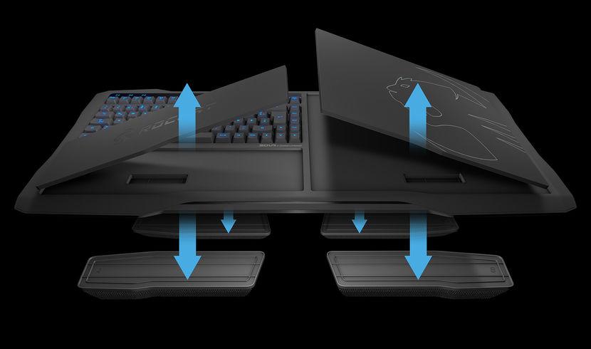 Test clavier Roccat Sova MK - Prêt à jouer depuis le canapé? schéma de déclipsage