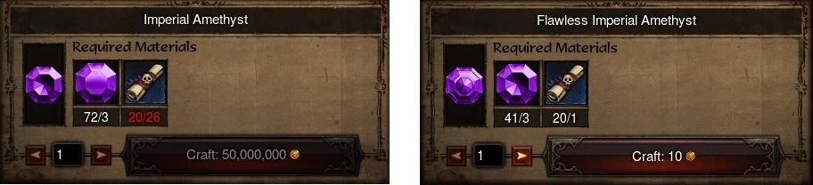 nouvelles qualités de gemmes D3 RoS