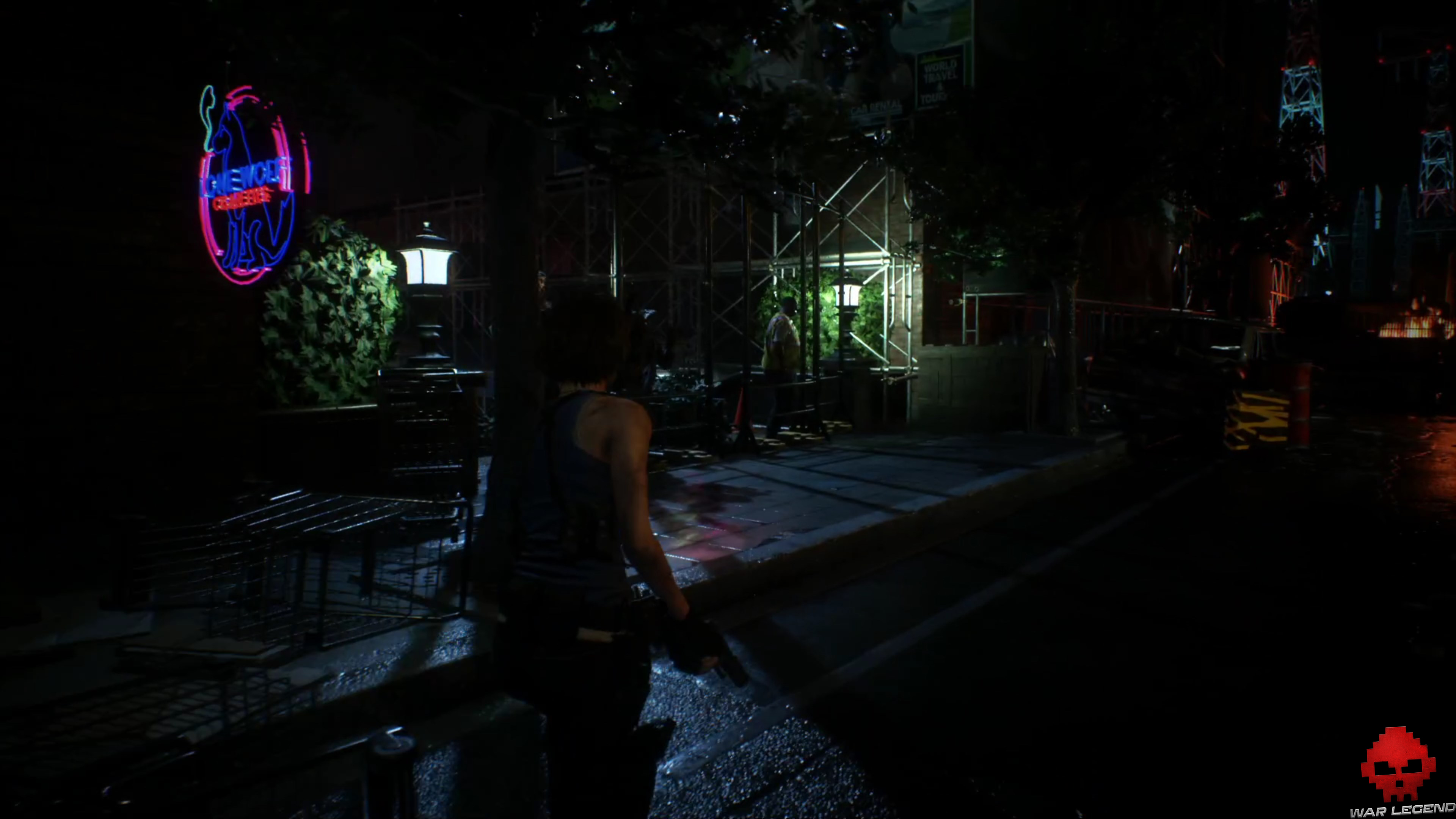 resident evil 3 - zombies derrière grilles