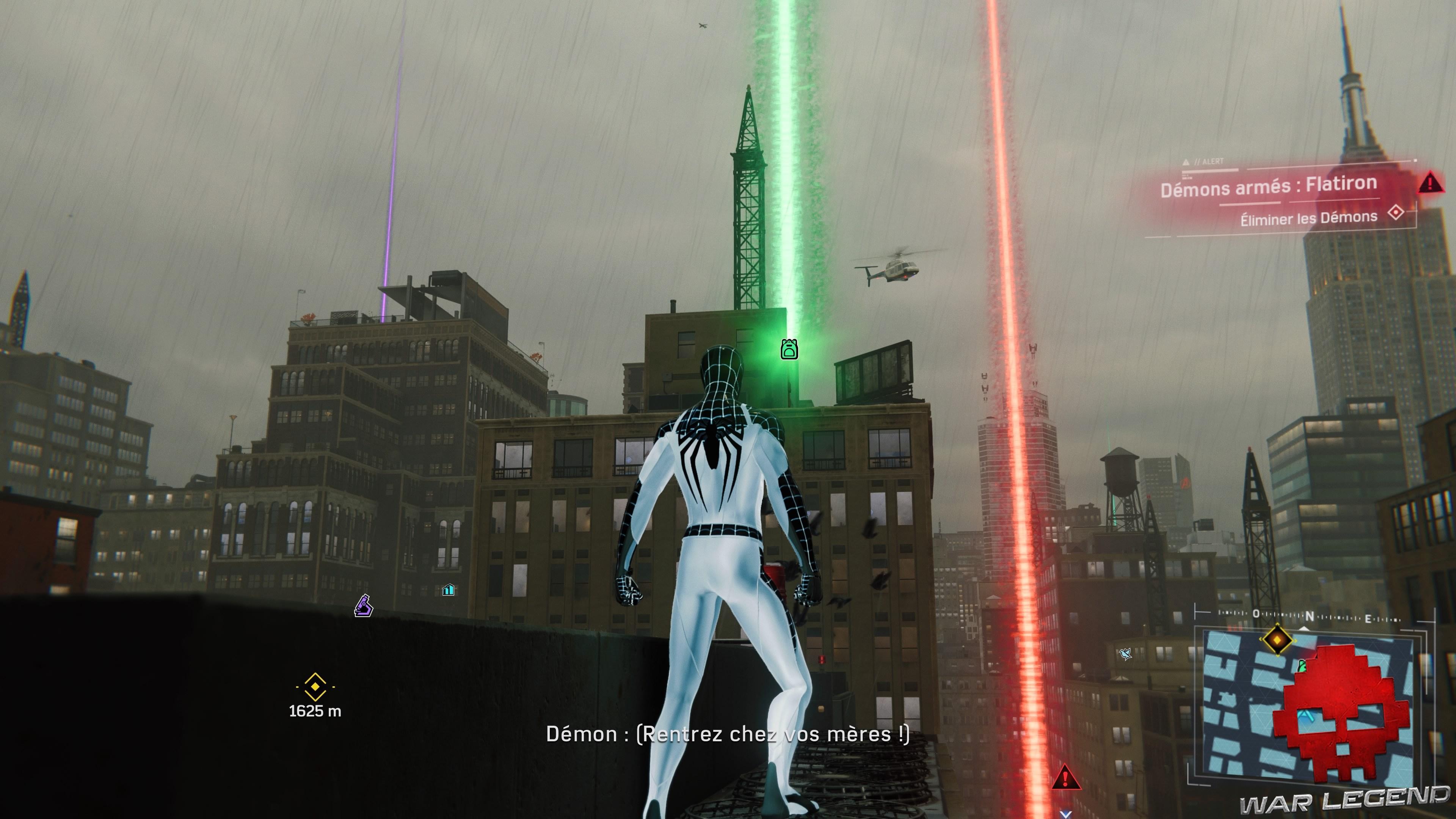 Test Spider-Man - Marqueurs lumineux