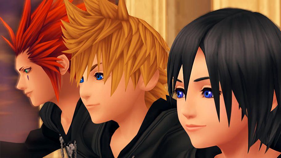 Roxas, Axel et Xion sur la Tour de l'horloge
