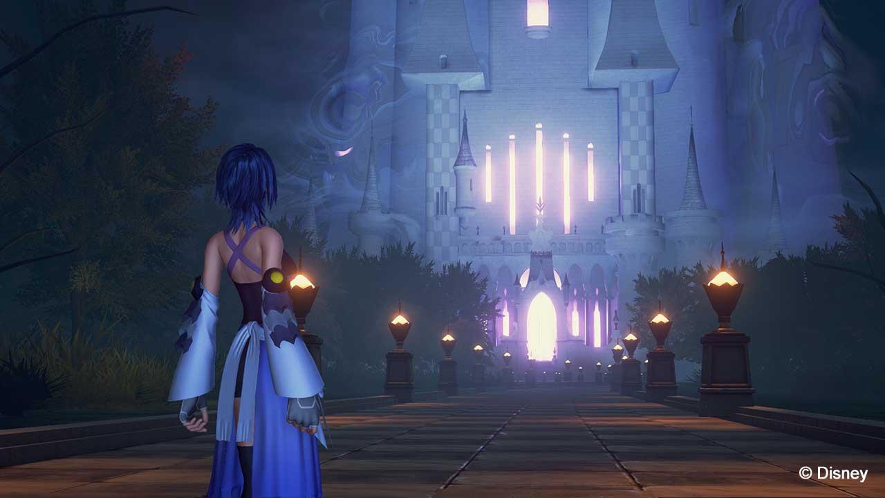 Aqua devant le Palais des Rêves