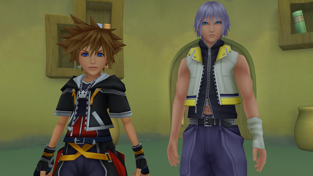 Sora & Riku dans la tour de Yen Sid