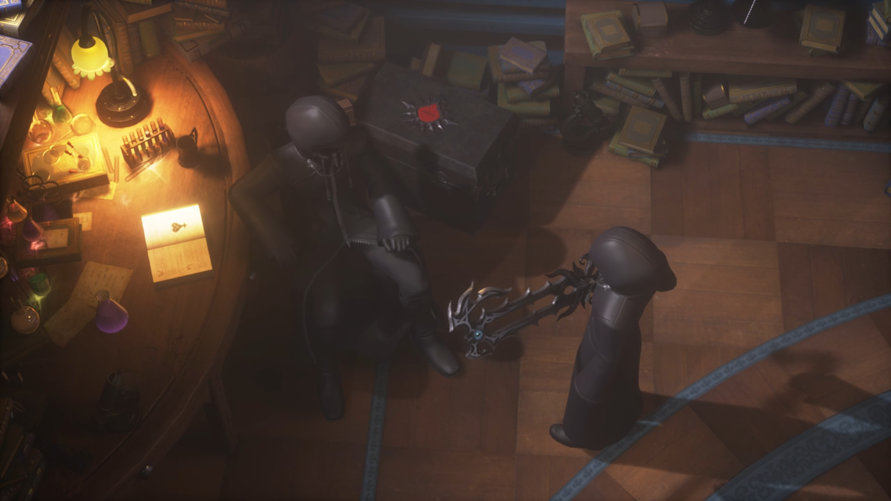 Luxu reçoit la keyblade du Mâitre des Maîtres