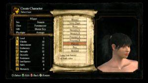 Dark Souls éditeur de personnage