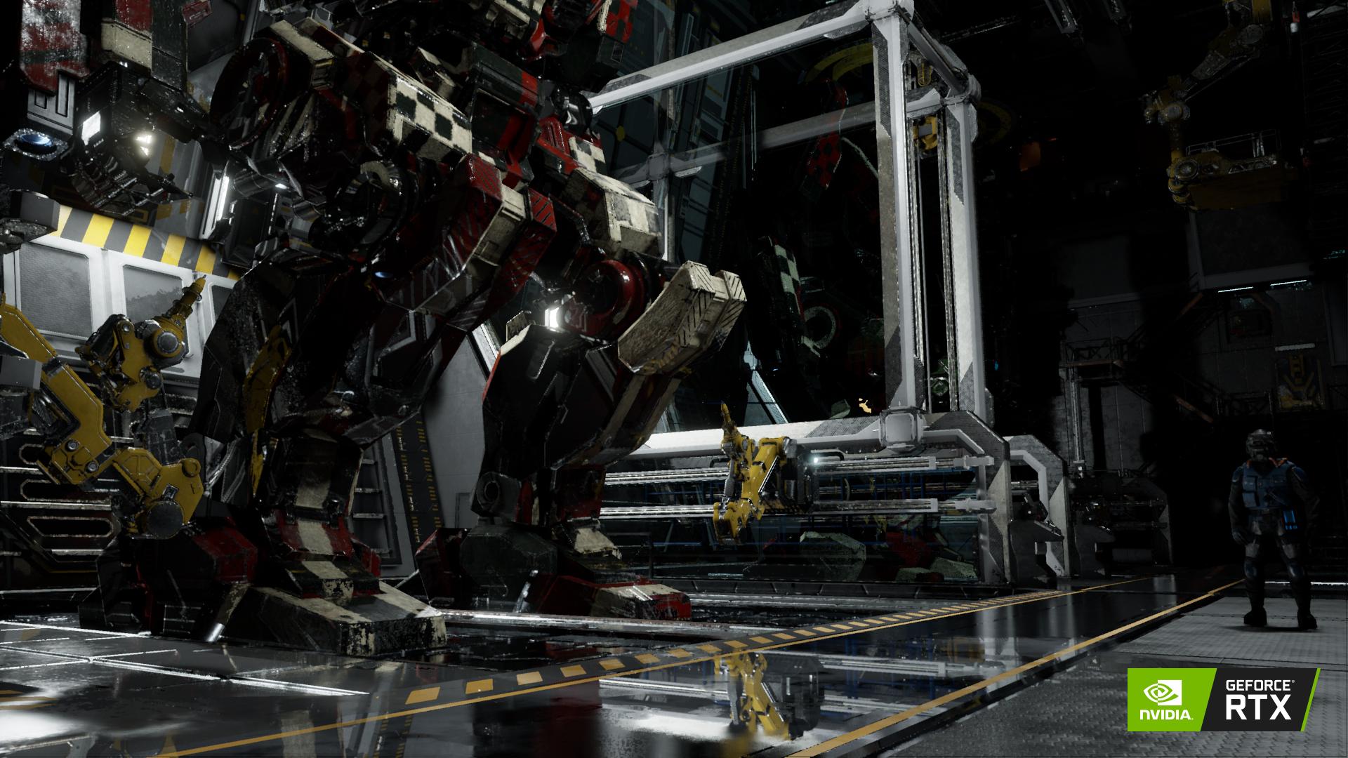 screenshot de MechWarrior 5 avec RTX activé