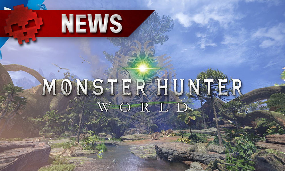 Monster Hunter: World - Logo et arrière plan fantaisie