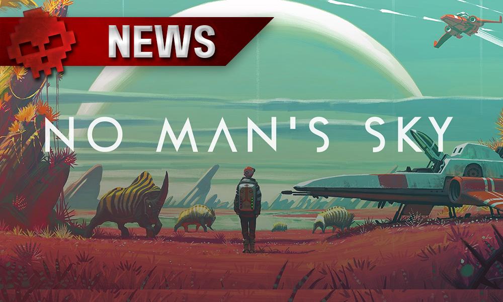 """No Man's Sky - La mise à jour """"Pathfinder"""" apporte une 4K au rabais Logo + personnage regardant l'horizon"""