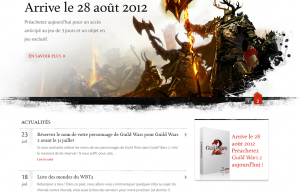Lifting du site officiel de Guild Wars 2