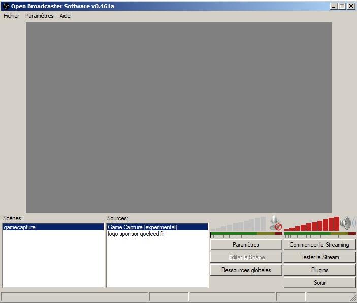 Open Broadcaster Software interface