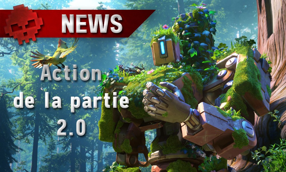 Overwatch - Action de la Partie 2.0 en développement bastion skin verdure