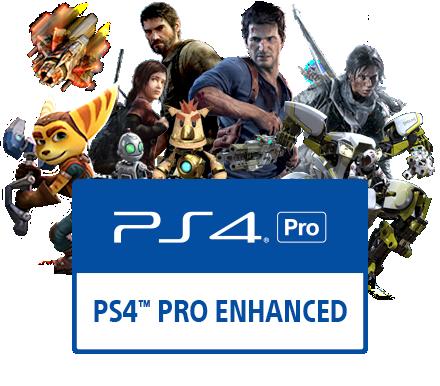 Test PS4 Pro jeux améliorés par la console