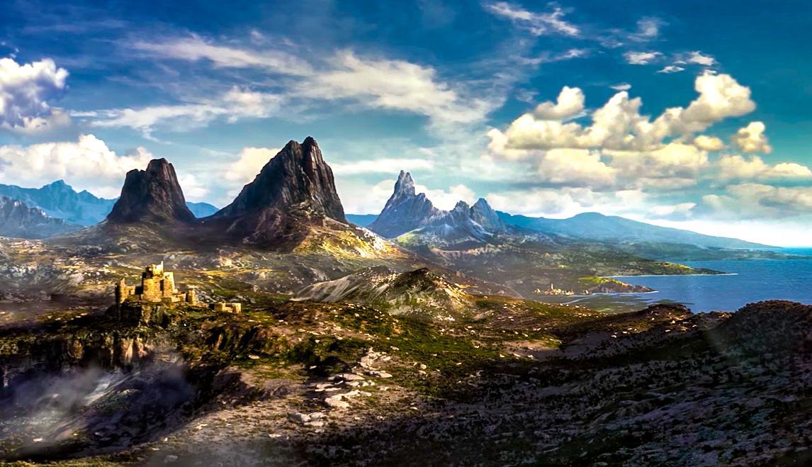 Paysage montrant la région jouable dans The Elder Scrolls VI