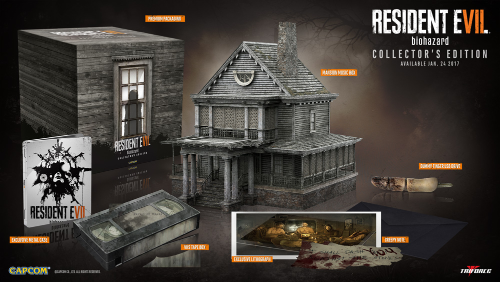 Resident Evil 7 - Capcom révèle ses éditions collector