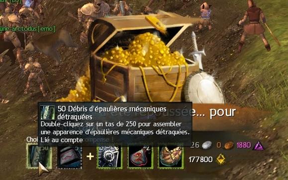 recompenses debris epauliere mecanique guild wars 2