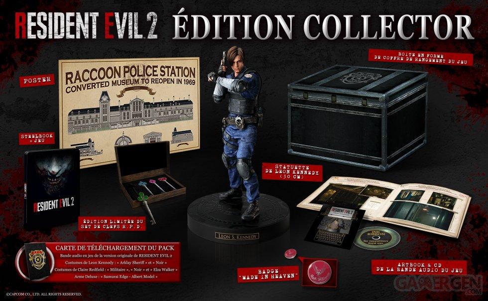 resident evil 2 remake contenu collector euro