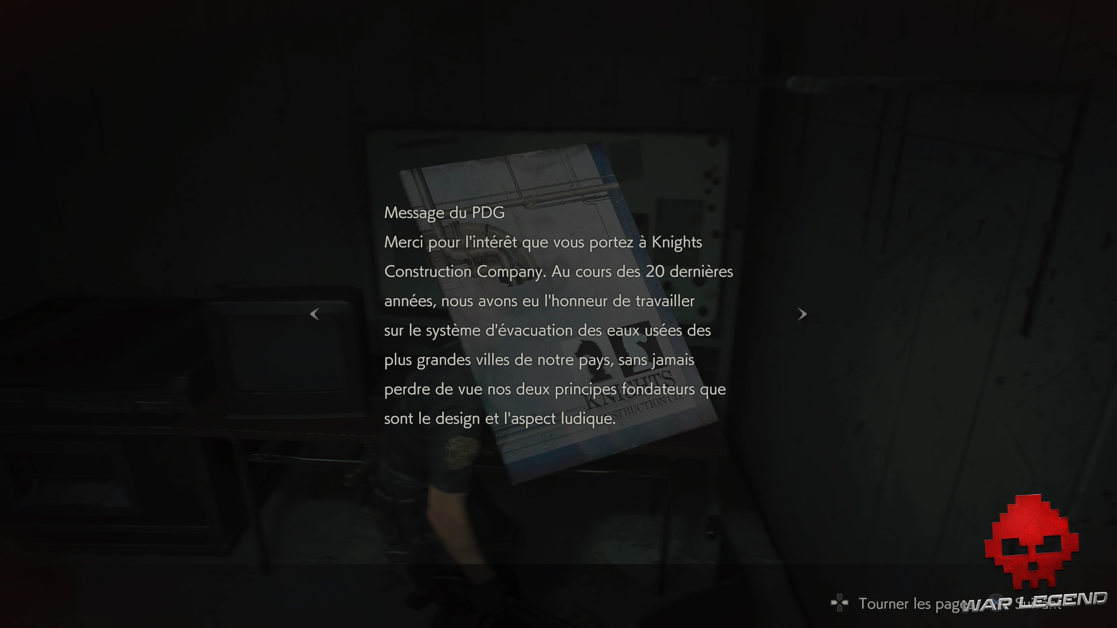Test Resident Evil 2 - Un message sur le mur