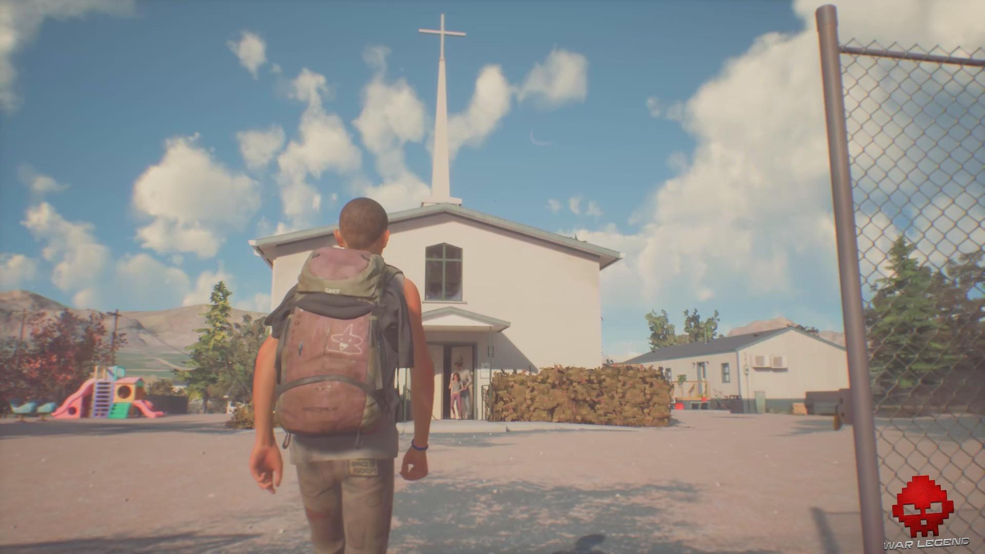 Sean devant une église