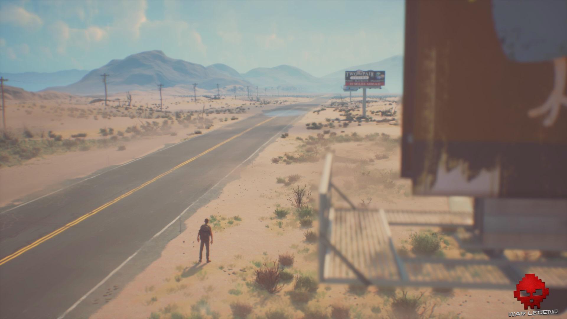Sean sur une route du Nevada