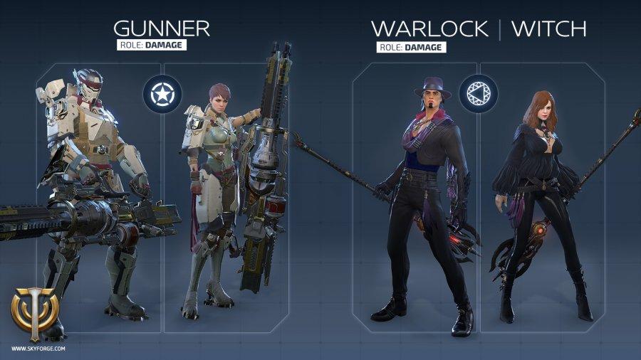 skyforge gunner warlock witch