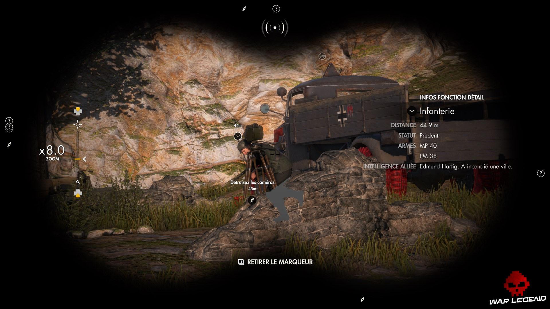 Test Sniper Elite 4 nazi caché derrière caméra
