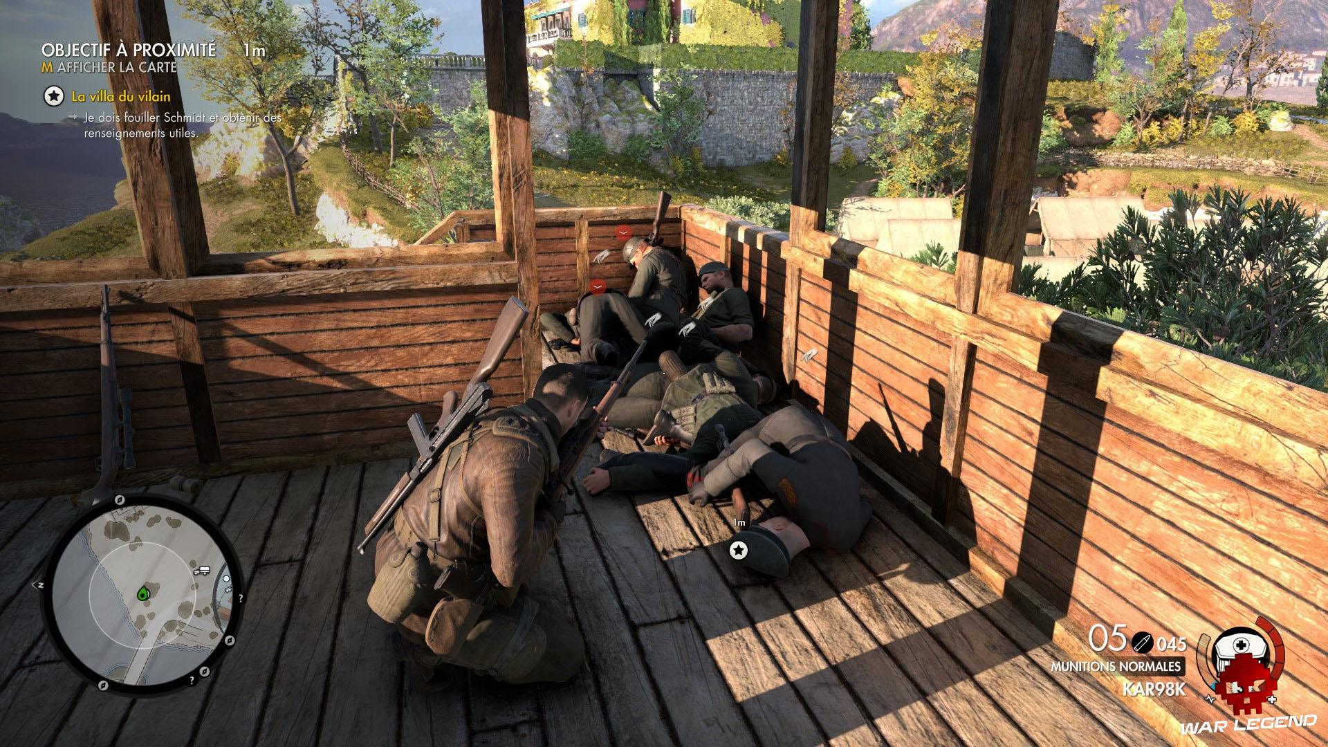 Test Sniper Elite 4 nazis à terre
