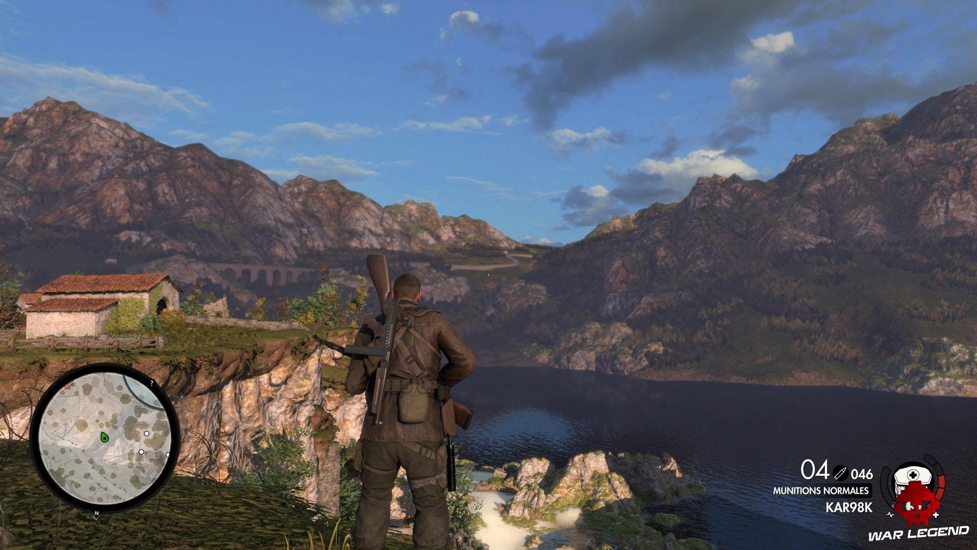 Test Sniper Elite 4 eau et montagnes