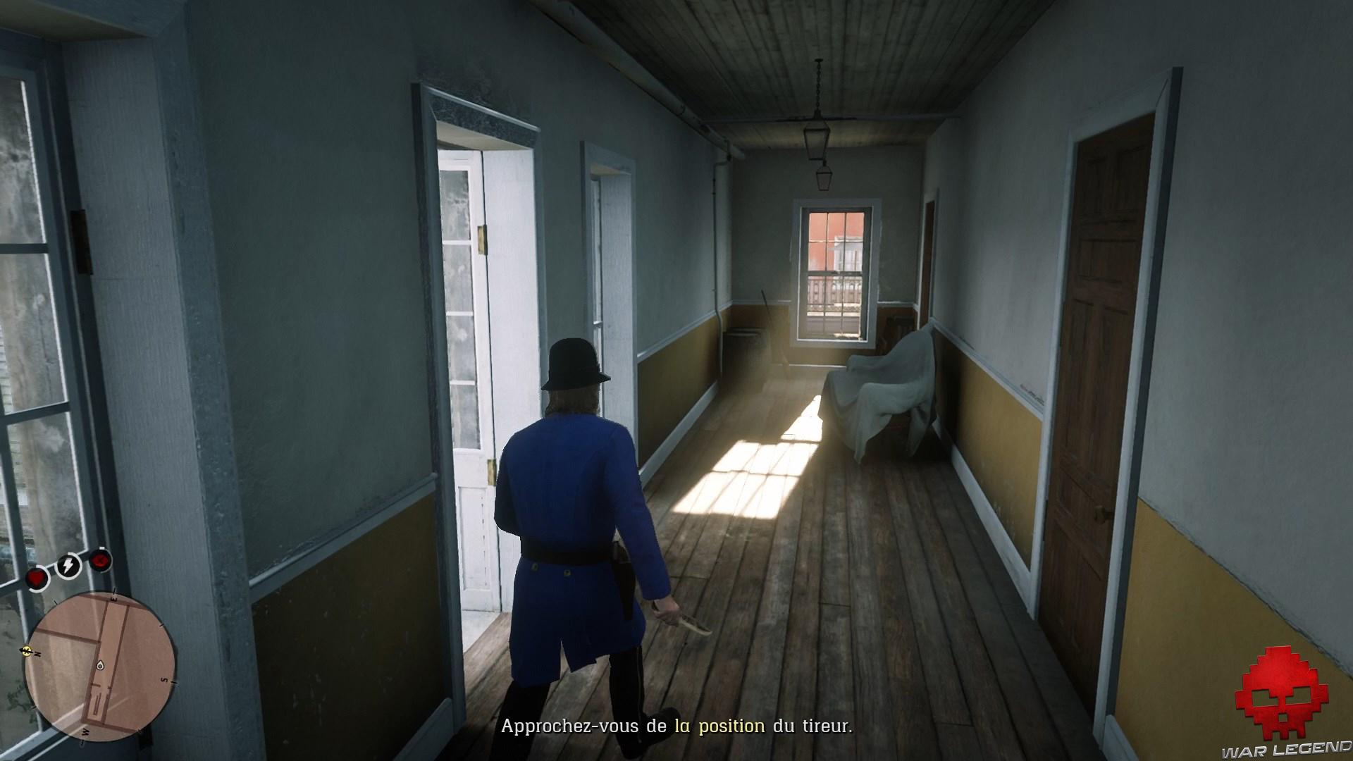 soluce red dead redemption 2 adieu fidèle ami policier dans un couloir