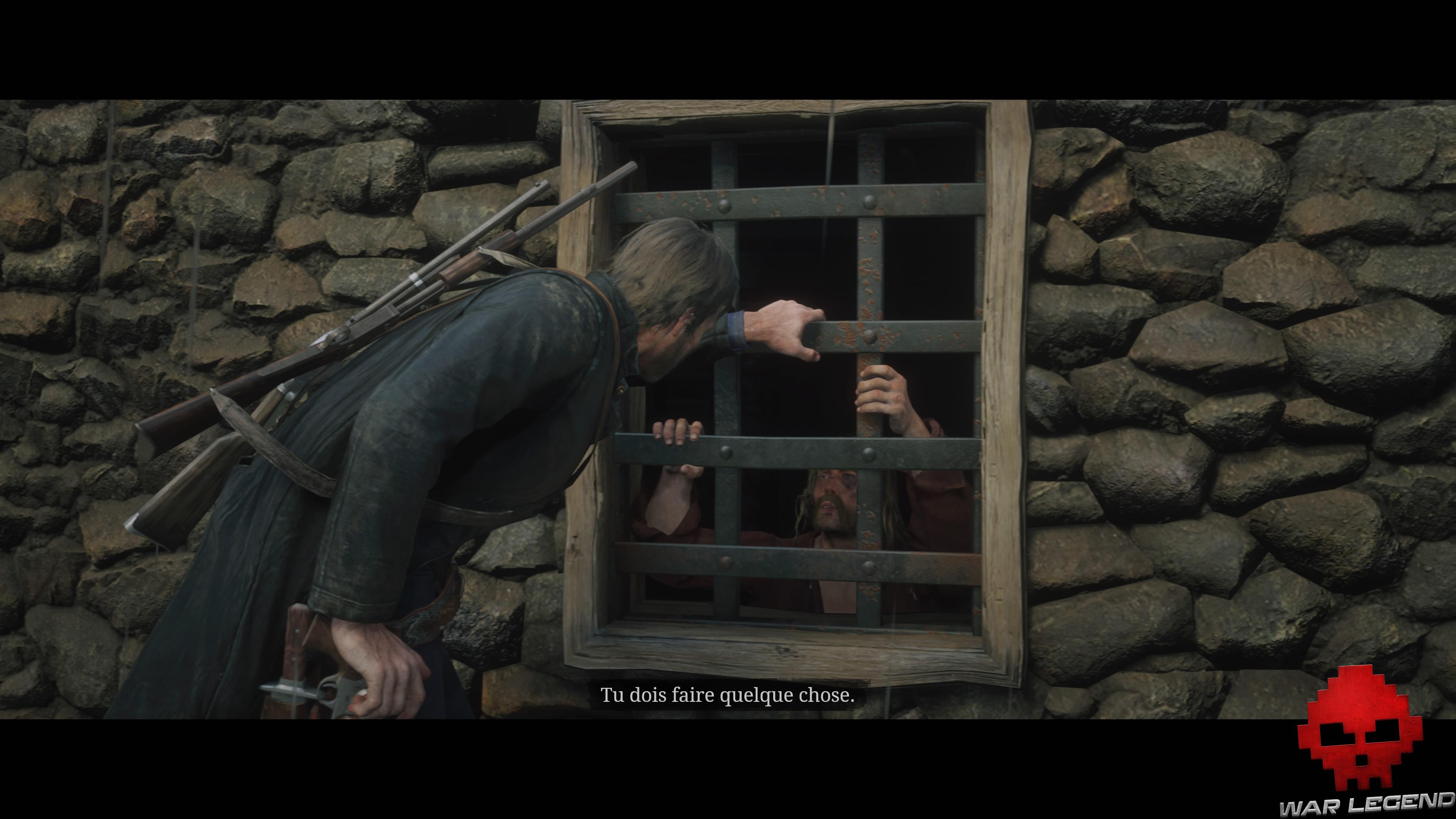 soluce red dead redemption 2 heureux les simples d'esprit micah derrière les barreaux