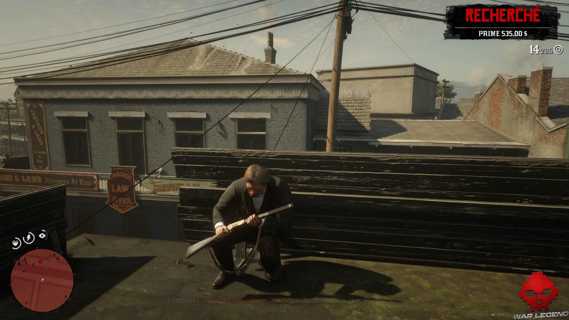soluce red dead redemption 2 la banque cet ancien art américain arthur planqué sur les toits