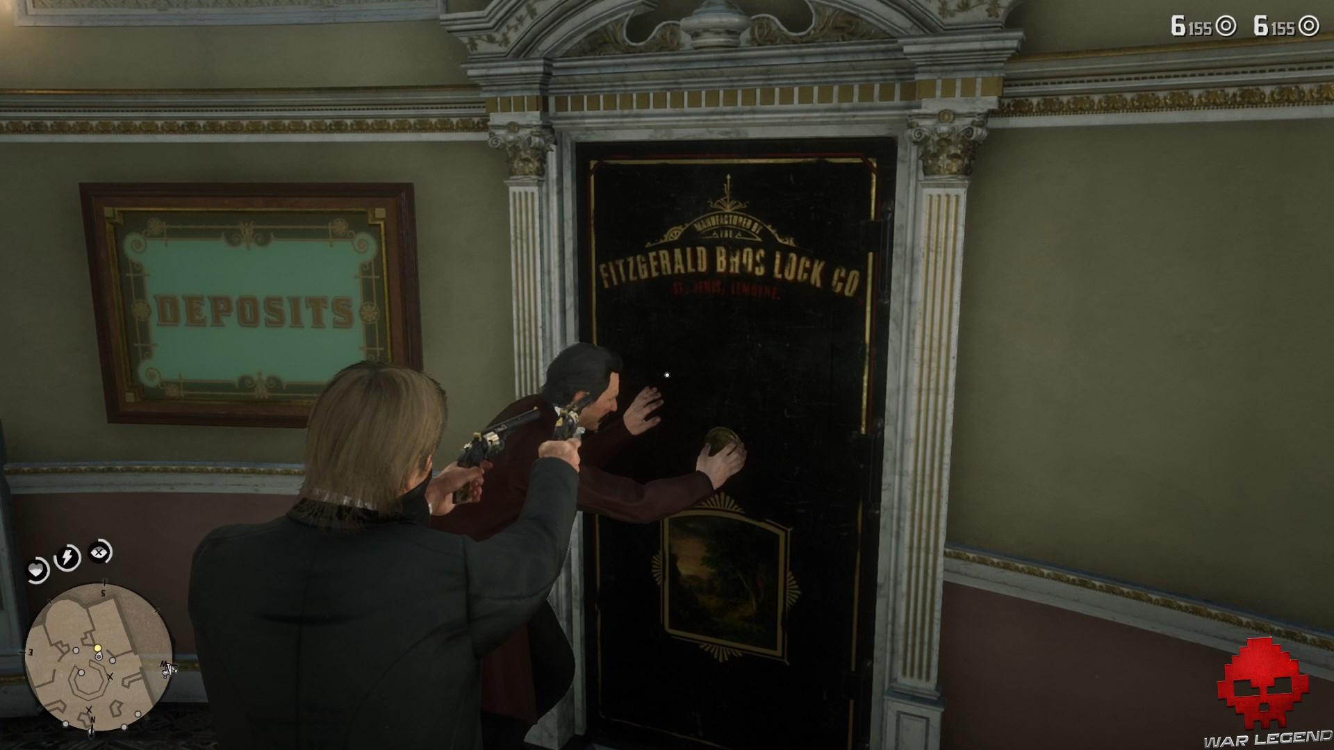test red dead redemption 2 directeur de la banque ouvre la salle des coffres