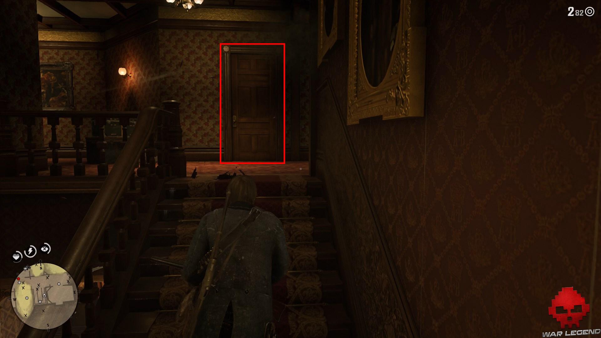 soluce red dead redemption 2 l'appétit vient en vengeant pote en haut des escaliers