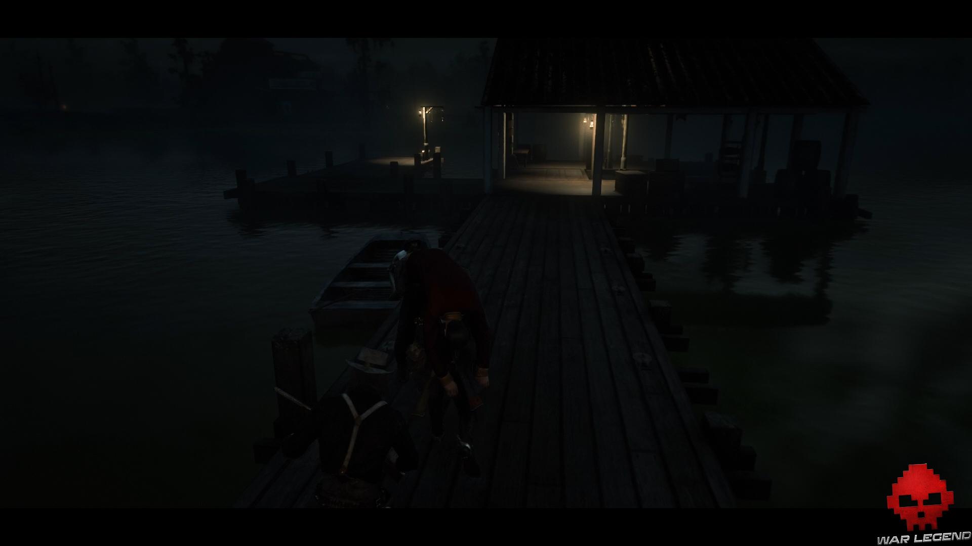 soluce red dead redemption 2 l'appétit vient en vengeant arthur transporte angelo vers un bateau à quai