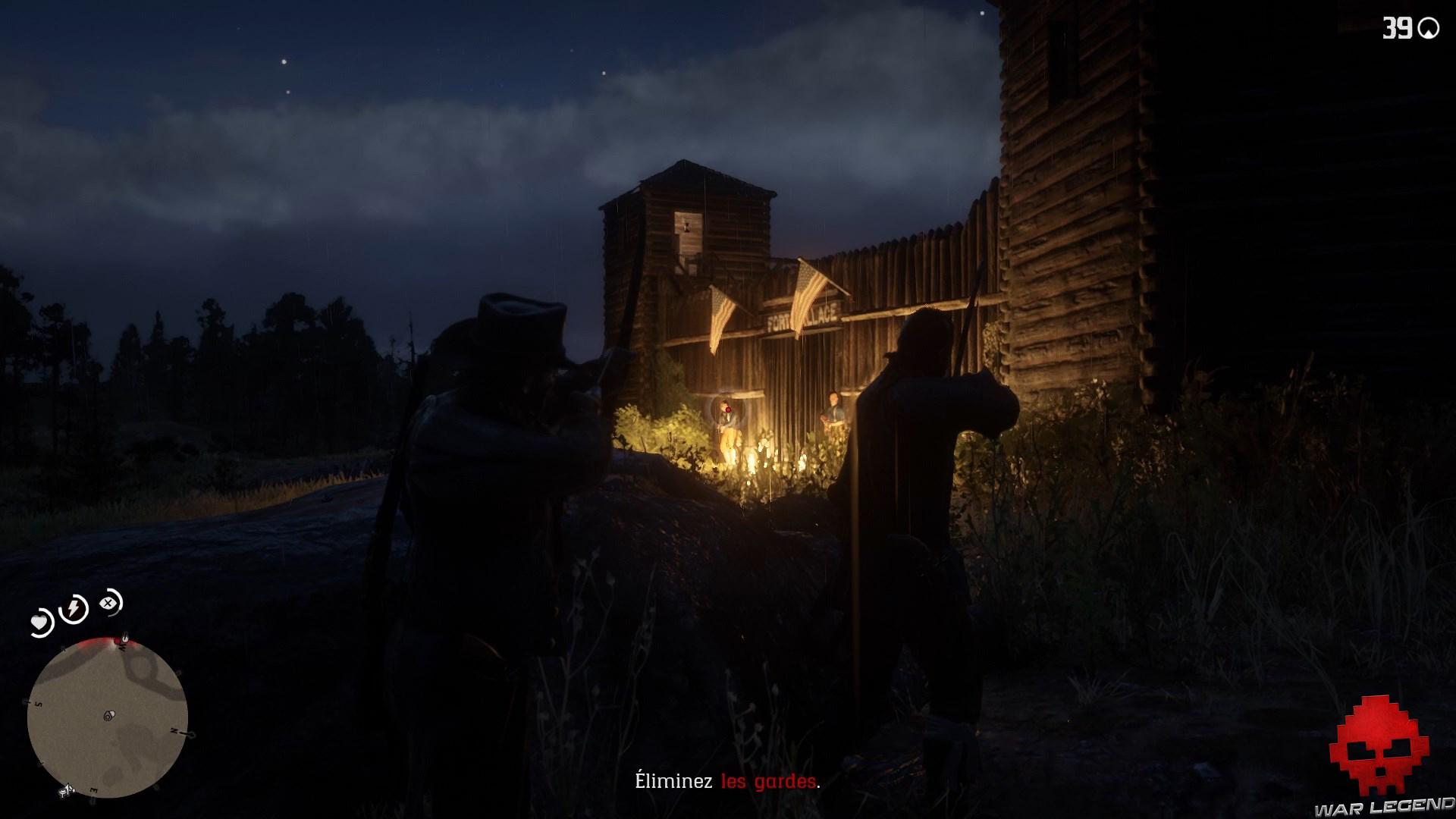 soluce red dead redemption 2 le fils du roi 2 gardes devant le fort wallace