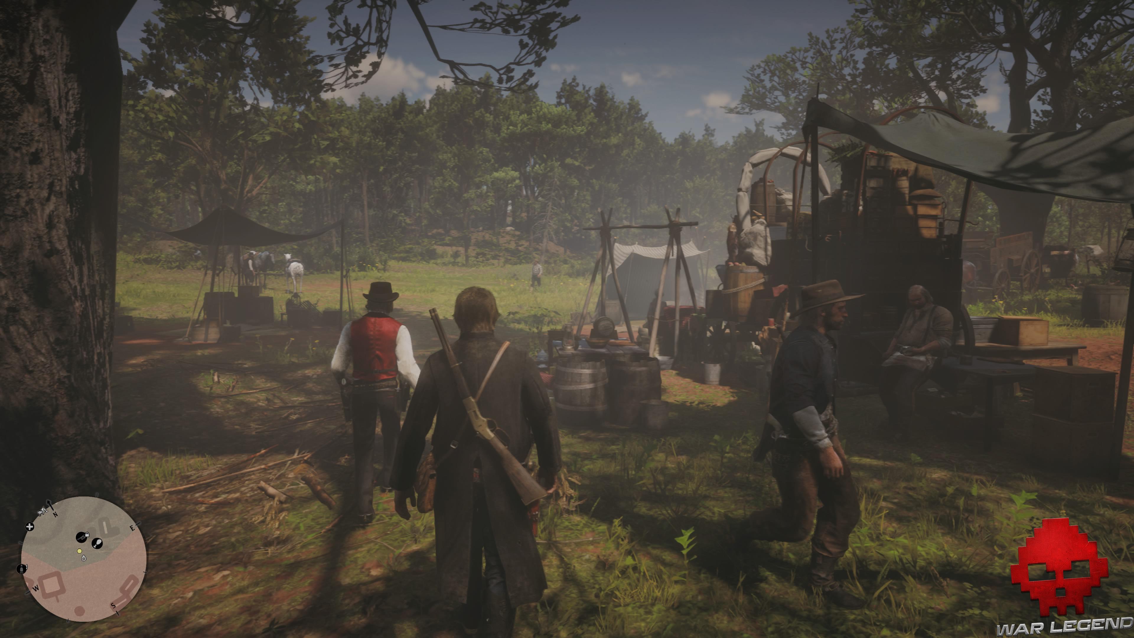 soluce red dead redemption 2 le sud nouveau arthur, hosea et dutch s'apprête à monter à cheval