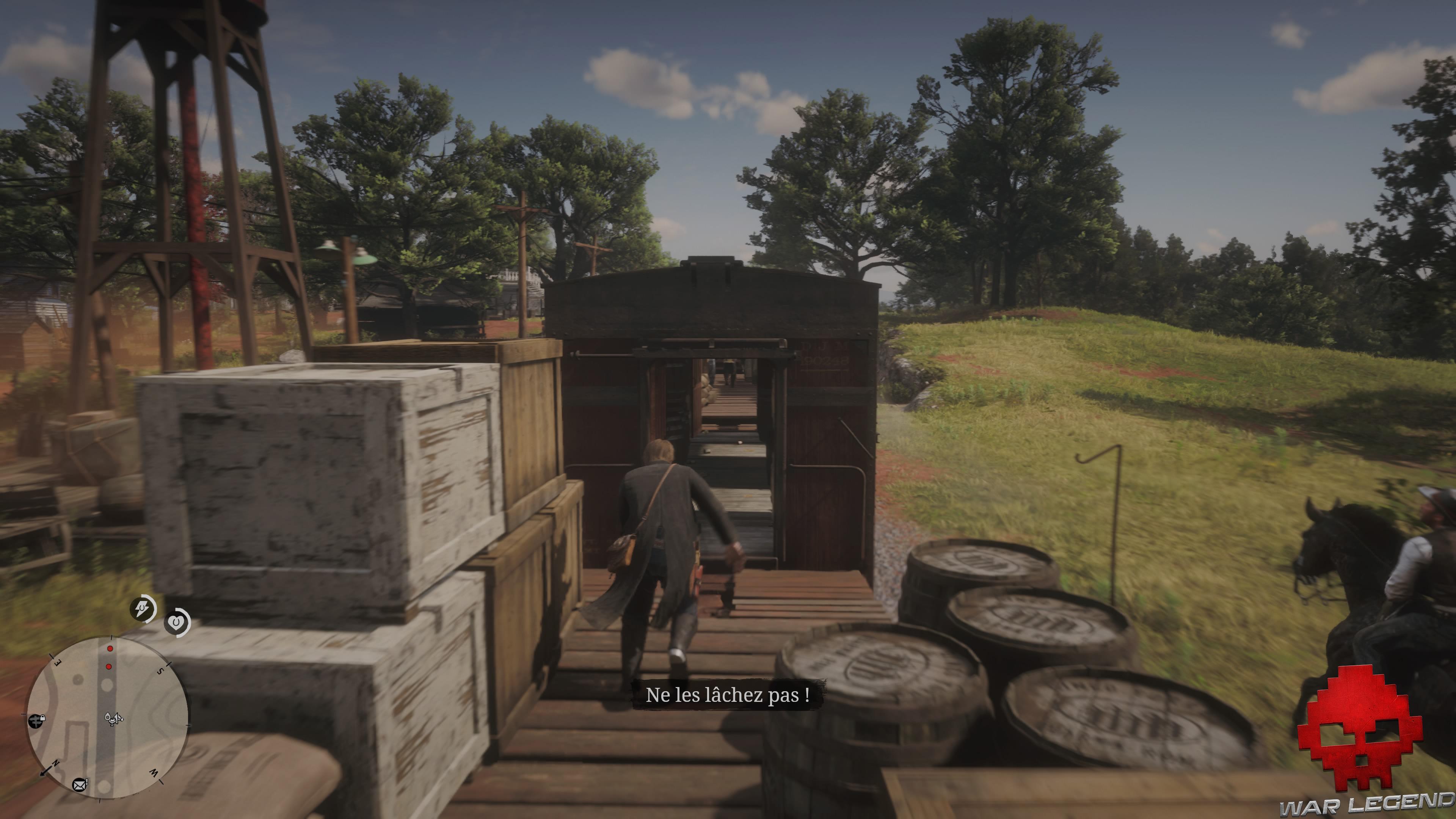 soluce red dead redemption 2 le sud nouveau arthur court dans un train