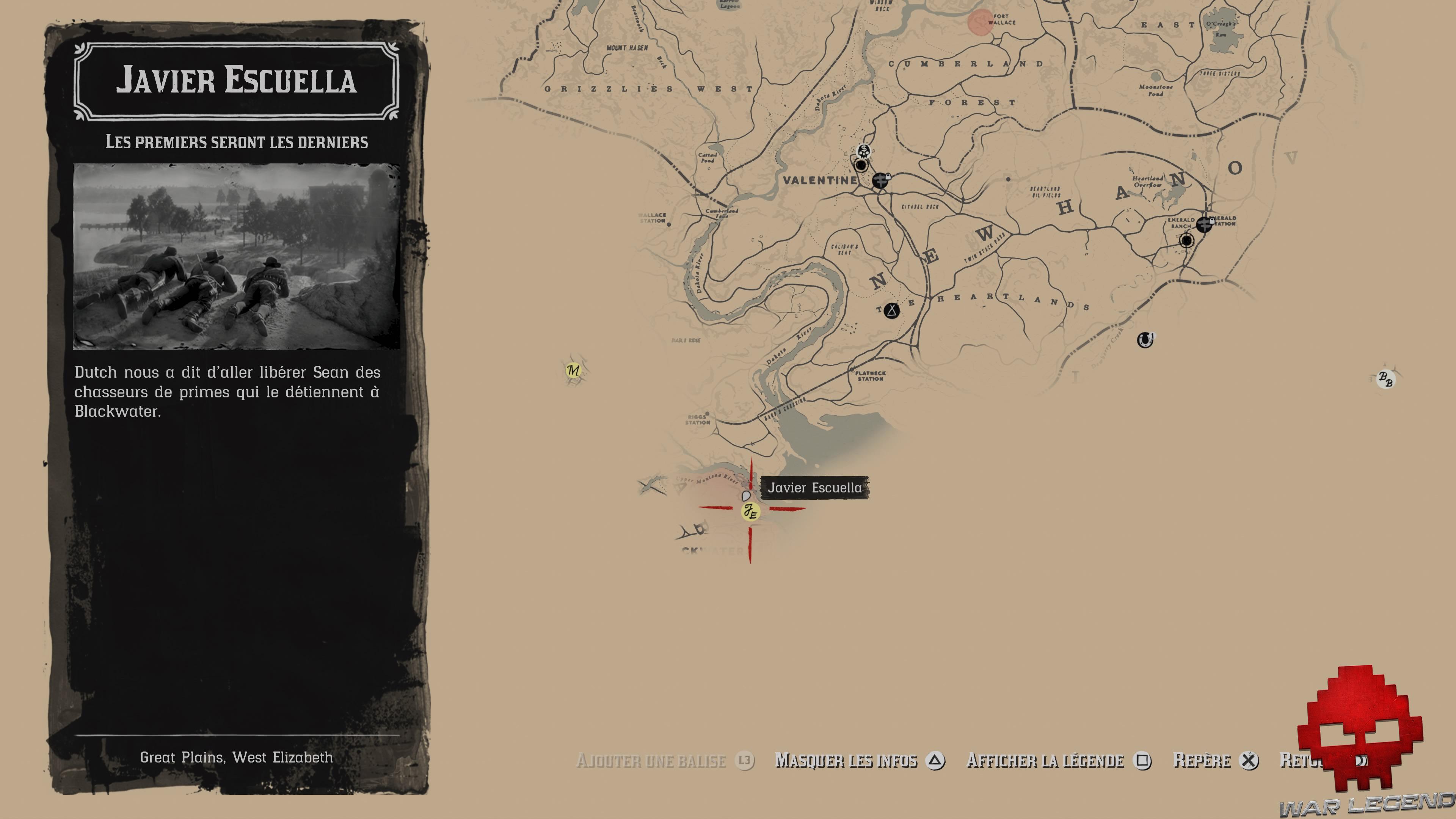 Soluce Red Dead Redemption 2 les premiers seront les derniers carte emplacement mission javier