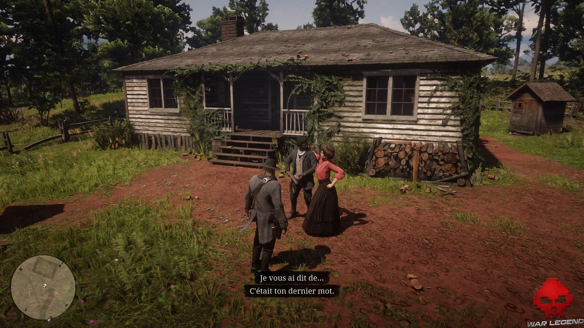 soluce red dead redemption 2 non non trois fois non maison des Foreman