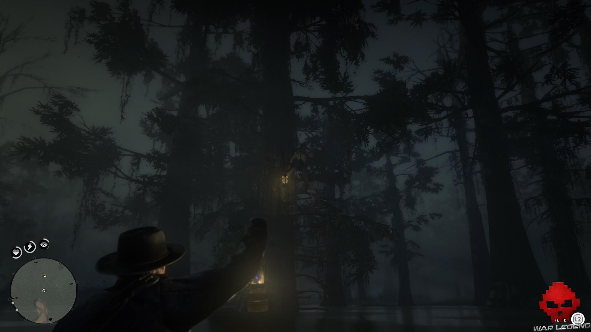 soluce red dead redemption 2 promenade dans le bayou Jules perché dans un arbre