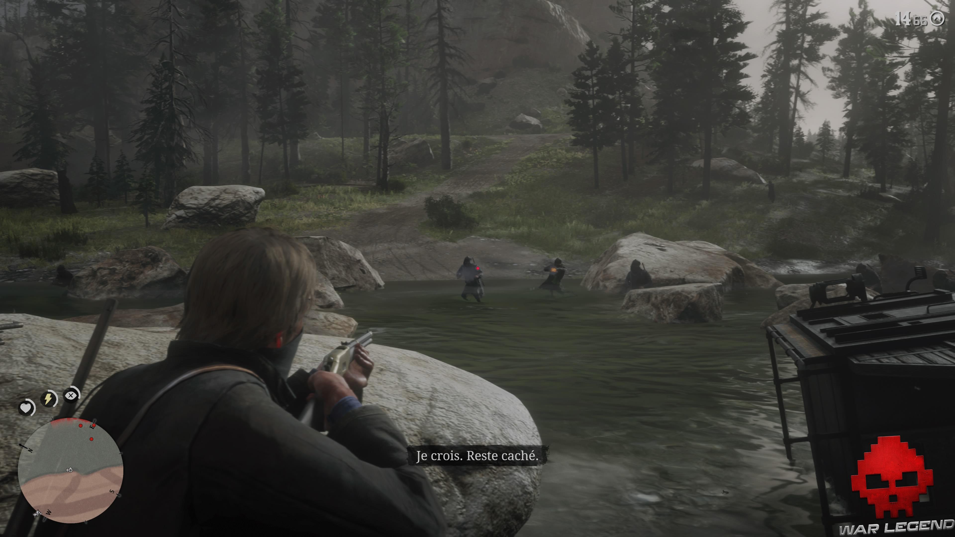 test red dead redemption 2 fusillade dans la rivière