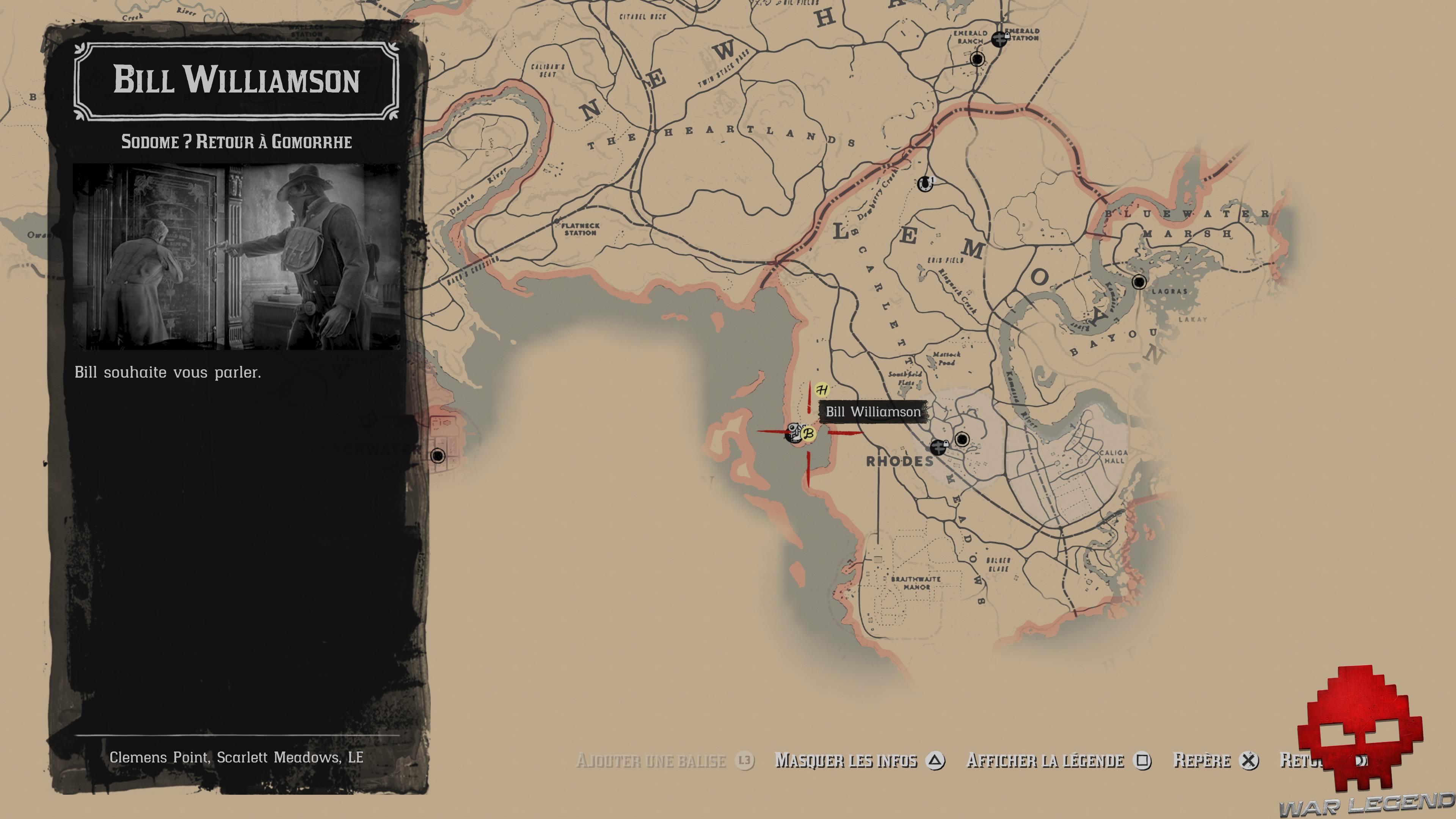 Vignettes soluce red dead redemption 2 sodome retour à gomorrhe carte