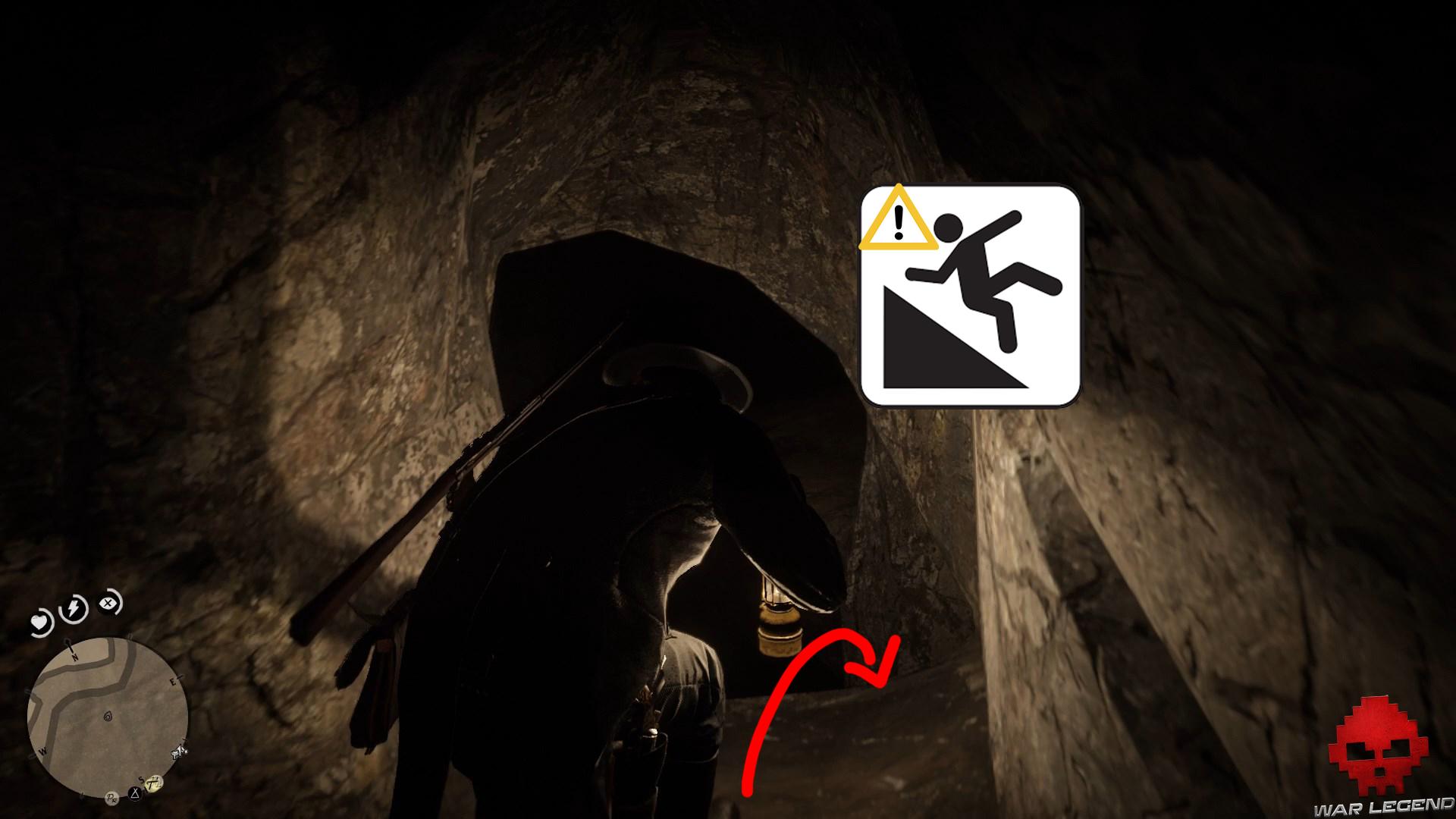 soluce red dead redemption 2 trésor de la piste empoisonnée risque de chute dans un tunnel