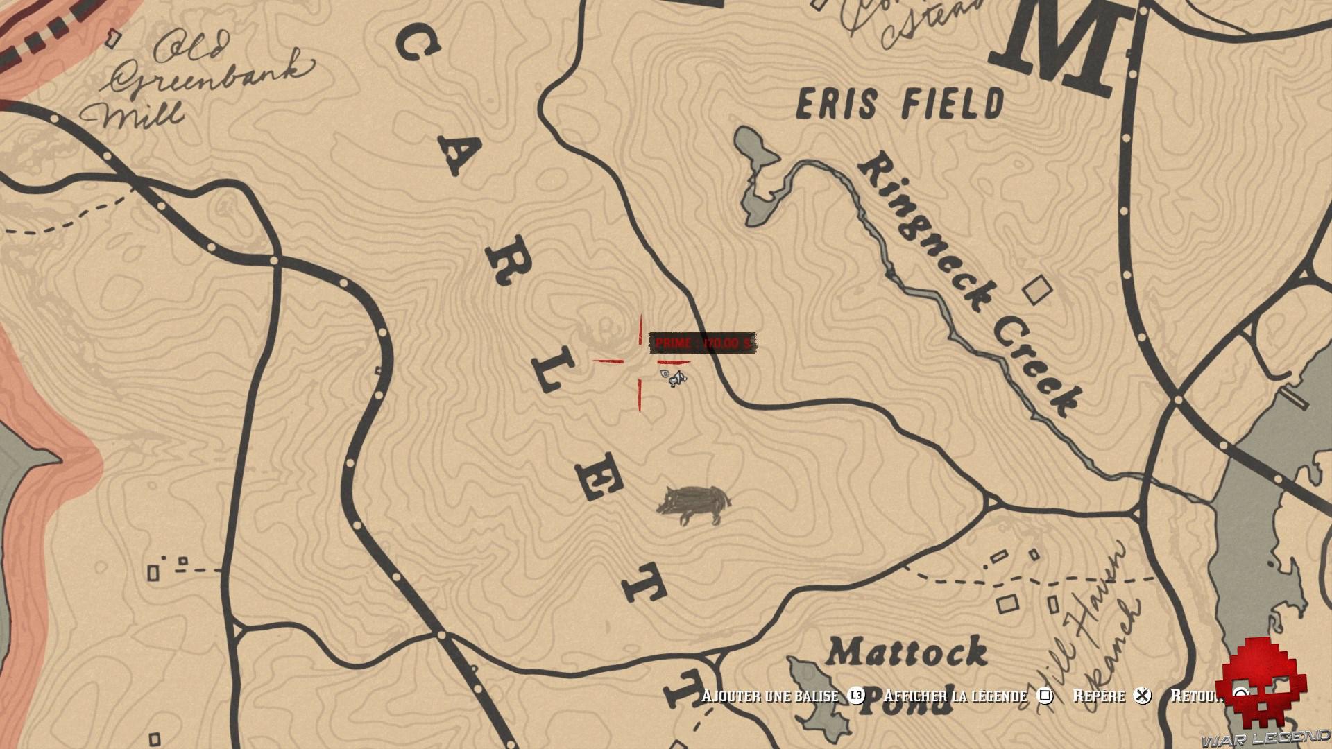 soluce red dead redemption 2 trésor de la piste empoisonnée carte emplacement seconde carte au trésor de la piste empoisonnée