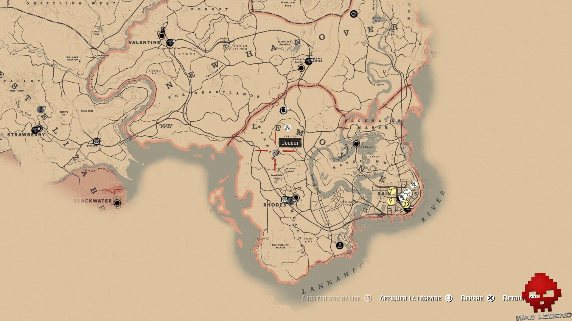 soluce red dead redemption 2 trésor de la piste empoisonnée carte scarlet meadows